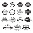 Vector Black and White Retro Stamps and Badges Isolated on White — Stock Vector #57988707