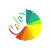Color wheel, circular color palette with vibrant, vivid colors — Stock Vector