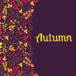 Autumn falling leaves background.Can be used for wallpaper,design of invitation,card, web page background, for cover notebook, diary, for fashion design, for design of utensils ,etc — Stock Vector #66177223