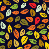 Colored pattern on leaves theme. Autumn pattern with leaves.Can be used for wallpaper, pattern fills, web page background,surface textures. Wonderful autumnal texture — Stock Vector