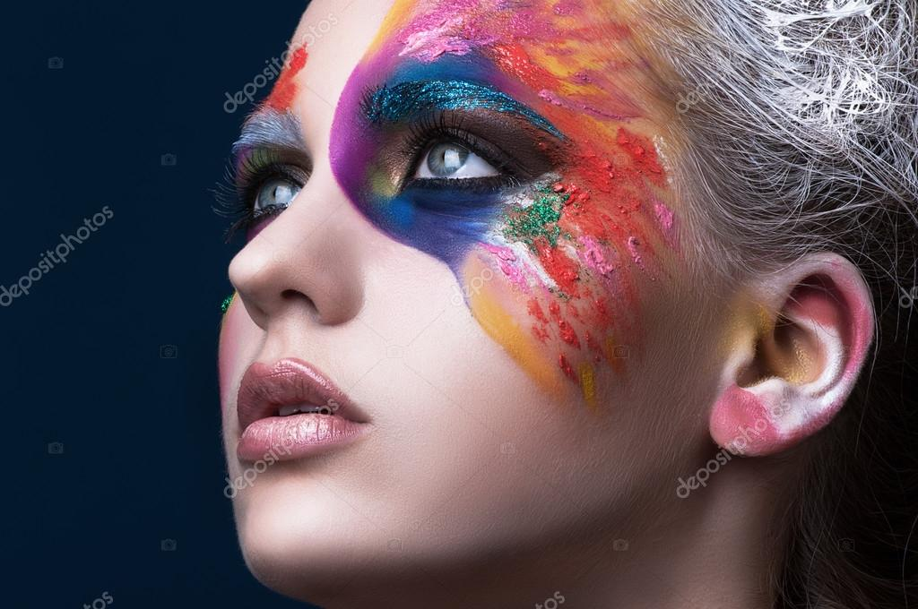 Colorful makeup