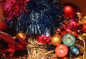 Colored tinsel — Stockfoto