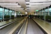 Moving walkways at Amsterdam Airport — Stock Photo