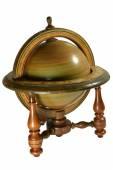Old wooden globus — Stock Photo
