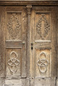 Old carved wooden door  — Stock Photo