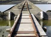 Salt railroad  — Foto de Stock