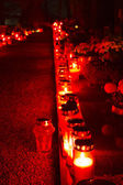 Cemetery candles — Stock Photo