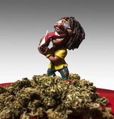 Rastaman figure — Stock Photo