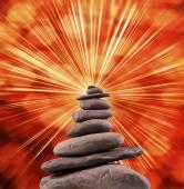 сбалансированный каменная башня — Стоковое фото