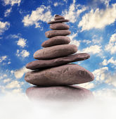 Balanced Stone Tower — Stock Photo