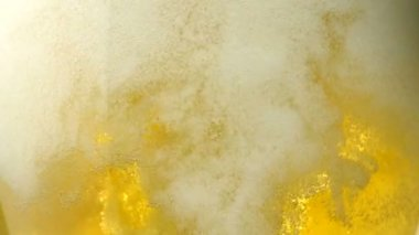 Beer bubbles — Stock Video