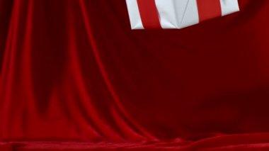 Heute fällt auf rotem Tuch — Stockvideo