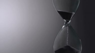 Sands röra timme glas — Stockvideo