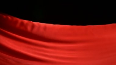 Flowing red cloth — Stock Video