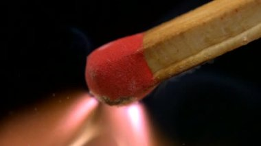 Igniting matchstick — Stock Video