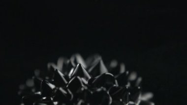 Ferrofluid on black background — Stock Video