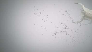 Milk and doughnut in air shooting — Stock Video