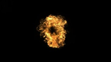 Fire ball explosion — Stock Video