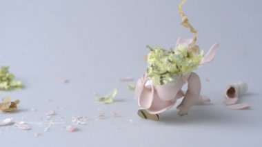 Porcelain doll being smashed — Stock Video