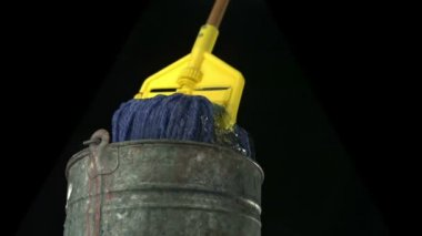 Mop and bucket — Stock Video