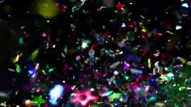 Confetti flying in air — Stok video