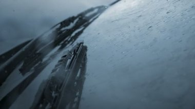Windshield wipers and rain — Stock Video