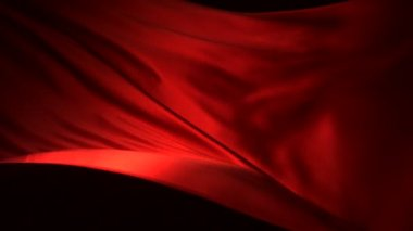 Red silk fabric flying — Stok video