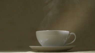 Cup of hot drink — Stock Video