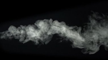 Smoke on black background — Stock Video
