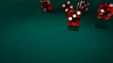 Throwing  red dices — Stock Video