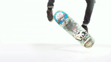 Skateboard jump — Stock Video
