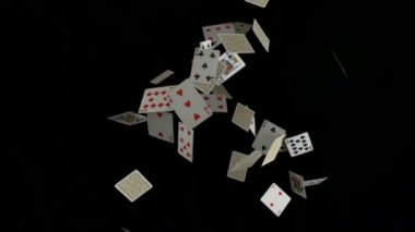 Playing cards falling — Stock Video