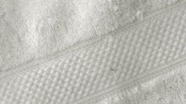 Water drop on towel — Stock Video