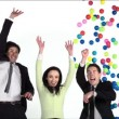 Business people jumping and rejoicing — Stock Video #61573217
