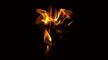 Blowing fire flame — Stockvideo