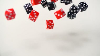 Dices rolling on white background — Stock Video