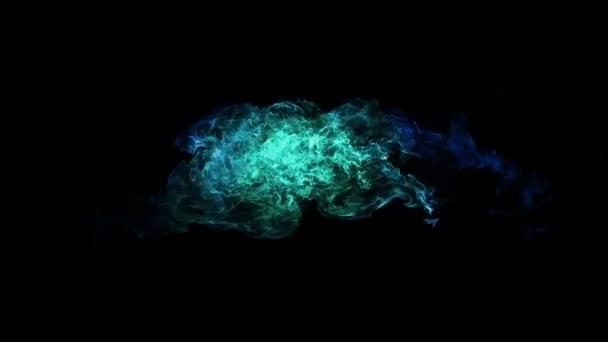 Colorful fire ball explosion — Vidéo