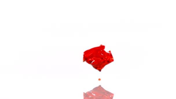 Caen cubos de jalea — Vídeo de stock