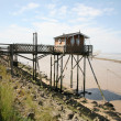 Wooden hut on the river — Stock Photo #57903713