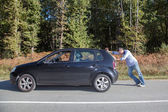 Man close to his car — Stock Photo
