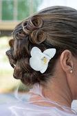 婚礼的头发 — 图库照片