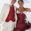 Wedding love beach — Stok fotoğraf #60070335