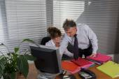 Woking with the boss — Stock Photo