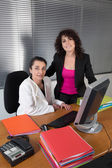 Two girl at the office — Stock Photo