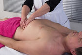 Lymphatic drainage massage — Stock Photo