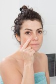 Bathroom woman — Stock Photo