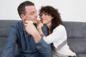 Couple in the house — Stock Photo