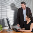 Business at work, business team relation ship between a man and woman — Stock Photo #64864101