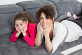 Complicity between a mother and her daughter — Stock Photo