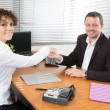 Man and woman at office — Stock Photo #66005589
